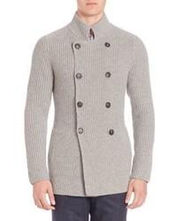 Brunello Cucinelli Double Breasted Cashmere Sweater