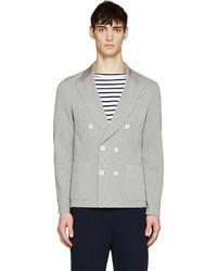 Sacai Grey Jersey Knit Blazer