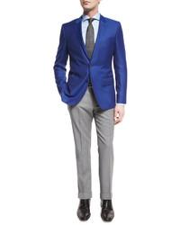Hugo Boss Boss Genesis Slim Fit Wool Trousers Light Gray