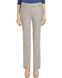 Brooks Brothers Lucia Fit Wool Flannel Slim Trousers