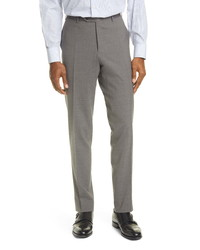 Canali Classic Fit Solid Stretch Wool Dress Pants