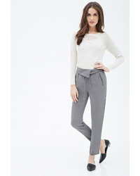 Forever 21 Contemporary Origami Waist Zipper Trousers