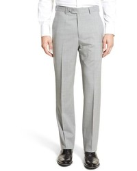 Flat front check wool trousers medium 652837