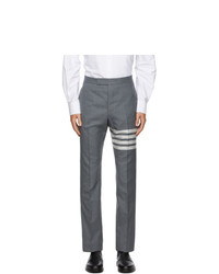 Thom Browne Grey 4 Bar Back Trousers