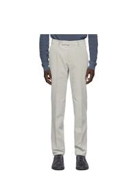 Ermenegildo Zegna Grey Corduroy Trousers