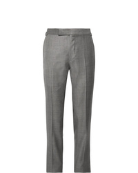 Tom Ford Grey Oconnor Slim Fit Super 110s Wool Sharkskin Suit Trousers