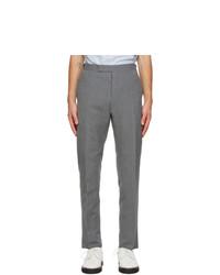 Thom Browne Grey Seersucker Trousers