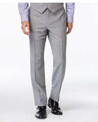 Tommy Hilfiger Grey Sharkskin Classic Fit Pants