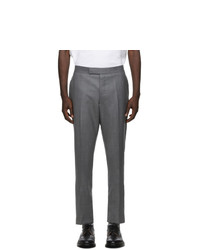 Thom Browne Grey Super 120s Wool Twill Trousers
