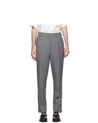 AMI Alexandre Mattiussi Grey Twill Carrot Trousers