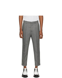 AMI Alexandre Mattiussi Grey Wool Carrot Trousers