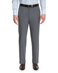 High performance wool twill trousers gray medium 652830