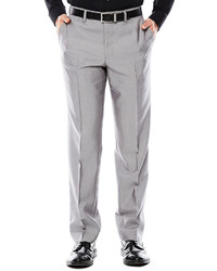 JF J.Ferrar Jf J Ferrar Gray Shimmer Shark Flat Front Slim Fit Suit Pants