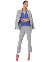 Isaac Mizrahi New York Side Zipper Ankle Length Pants