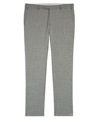 Zanella Parker Sharkskin Wool Trousers