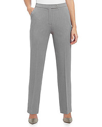 Investments Petite The Madison Ave Classic Fit Straight Leg Pant