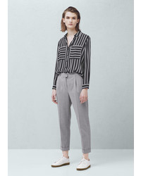 Mango Outlet Pleated Suit Trousers