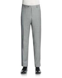 Saks Fifth Avenue Sharkskin Wool Trousers