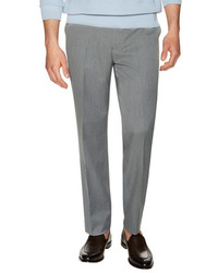 Sharkskin Flat Front Trousers