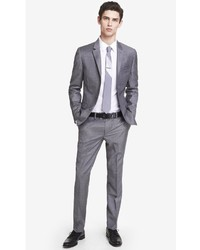 Express Skinny Innovator Micro Twill Gray Suit Pant | Where to buy ...