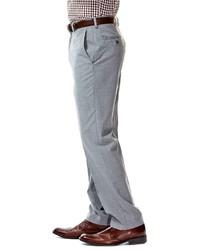 3220c6914d ... Haggar Slim Fit Heather Flat Front Light Gray Suit Pants