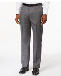 Tommy Hilfiger Solid Grey Modern Fit Dress Pants