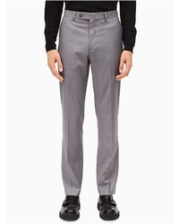 Calvin Klein Straight Fit Light Grey Dress Pants