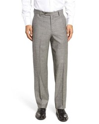 Berle Stretch Plaid Wool Trousers