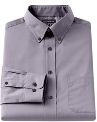 croft & barrow Big Tall Classic Fit Solid Broadcloth Button Down Collar Dress Shirt