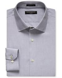 Banana Republic Camden Fit Gray Textured Non Iron Shirt