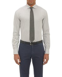 Barneys New York Dress Stripe Shirt Grey
