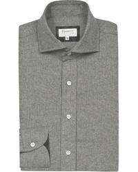 Emmett London Slim Fit Brushed Cotton Shirt