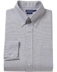croft & barrow Fitted Grid No Iron Dress Shirt