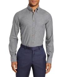 Eton Flanella Slim Fit Solid Dress Shirt