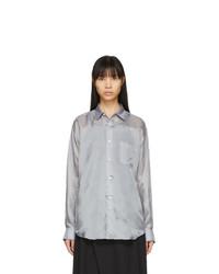 Comme Des Garcons SHIRT Grey Cupro Taffeta Forever Shirt