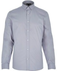 River Island Grey Long Sleeve Shirt