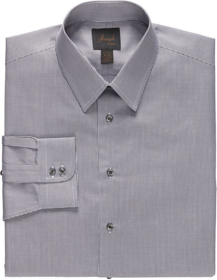 Grey dress shirt jos a bank new joseph spread collar for Joseph banks dress shirts