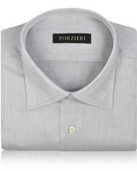 Forzieri Light Gray Cotton Dress Shirt