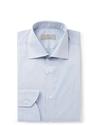 Canali Light Grey Slim Fit Cotton Shirt