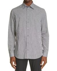 Emporio Armani Microdot Cotton Button Up Shirt