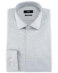 BOSS Mlange Slim Fit Dress Shirt Light Gray