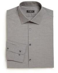 Saks Fifth Avenue Modern Regular Fit Diamond Dress Shirt