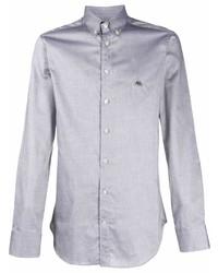 Etro Pegaso Embroidered Button Down Shirt