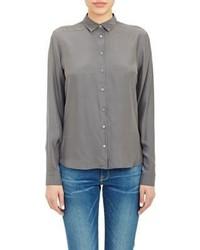 Reverse satin shirt grey medium 233706