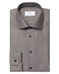 Eton Slim Fit Crease Resistant Solid Textured Dress Shirt