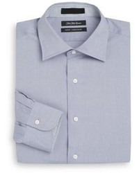 Saks Fifth Avenue Slim Fit Heathered Cotton Dress Shirt
