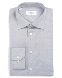 Eton Slim Fit Micro Dot Dress Shirt