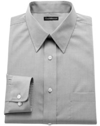 croft & barrow Slim Fit Solid Easy Care Point Collar Dress Shirt