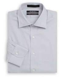 Saks Fifth Avenue Slim Fit Textured Cotton Dress Shirt Gift Box
