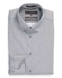 Ted Baker London Trim Fit Geo Print Stretch Dress Shirt